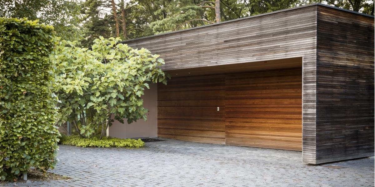 Landelijke garagedeur fusie