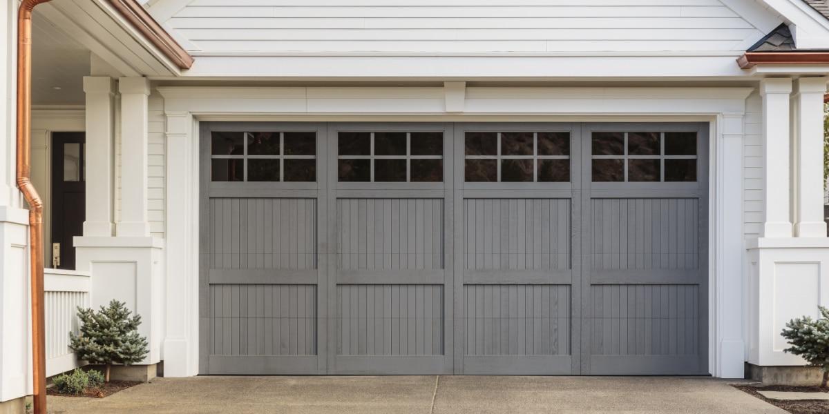 garagedeur landelijke stijl houtlook